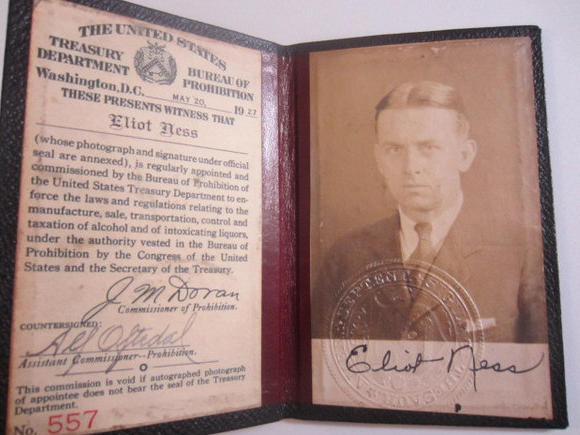 Eliot Ness items up for auction
