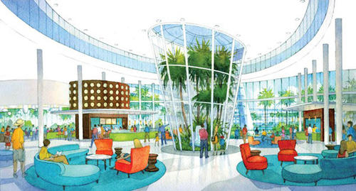 Loews Hotels & Resorts will build a new on-property hotel at Universal Orlando. Scheduled to open in 2014, Universal's Cabana Beach Resort will be the largest of Universal's four on-site hotels with 1,800 rooms.