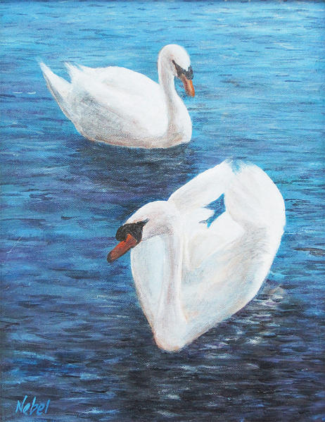 """'Hagerstown Swans"" by Tom Nebel is part of Potomac River Artists Guild's Form, Function and Fantasy"" art show and sale."