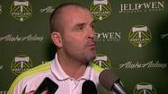 The Portland Timbers fired coach John Spencer on Monday, two days after the team slumped to its third road loss in a row.