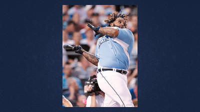 American League's Prince Fielder, of the Detroit Tigers, swings during the second round of the MLB All-Star baseball Home Run Derby, Monday, in Kansas City, Mo.