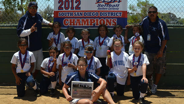 The Imperial Valley Girls Softball League 8-and-under All-Stars won the 2012 ASA South San Diego District Championships last weekend in San Diego.