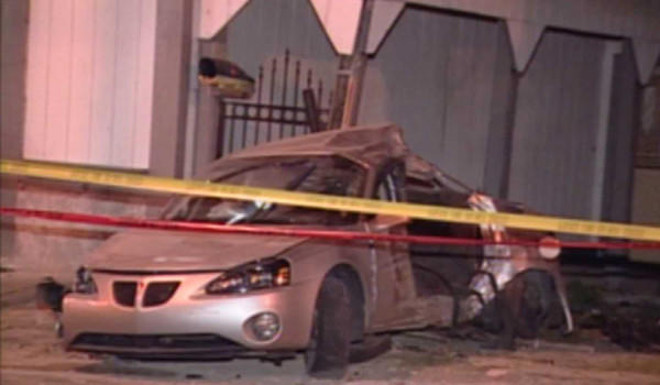 A car that crashed into another vehicle and a home on the Far South Side this morning.