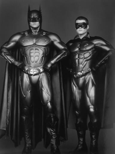 "Val Kilmer donned the dark suit in ""Batman Forever"" in 1995. Chris O'Donnell was Robin. Jim Carrey played the Riddler."