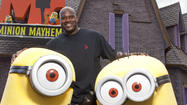 Picture it: Shaquille O'Neal with minions at Universal Studios