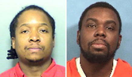 Nakia Tyler, left, and Eugene L. Saunders are charged with conspiracy and residential burglary in an attempted burglary in Wood Dale on July 9, 2012. Tyler was taken into custody, Saunders is still at large.
