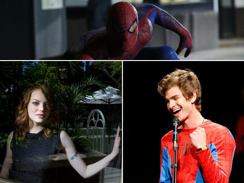 "For the premiere of Columbia Picture's ""The Amazing Spider-Man,"" actors Emma Stone and Andrew Garfield toured the world to promote the film. Click through the gallery to see where they went."