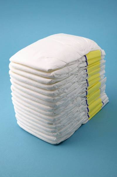 Diapers. Not to be confused with swim diapers.