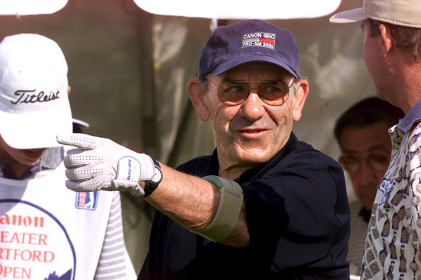 Yogi Berra always drew huge crowds when visiting Connecticut's signature event. He was a popular man at the Canon GHO on June 28, 2000.