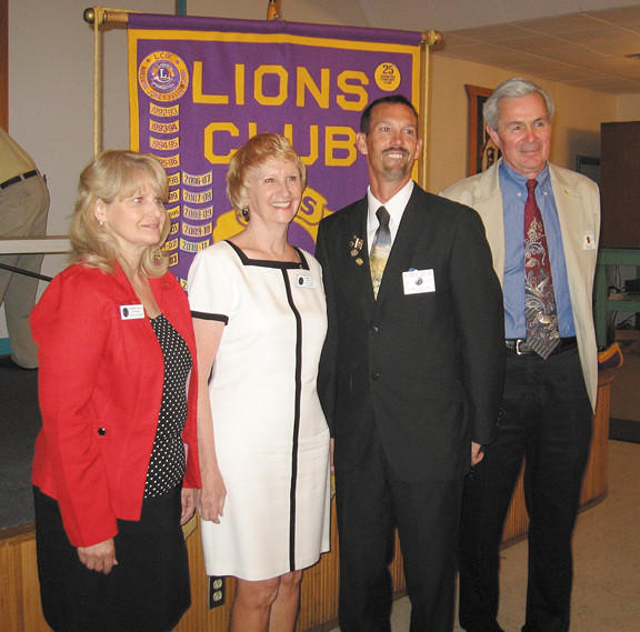 On June 28, the Williamsport Lions Club installed its officers for 2012-13. They are, from left, Tamitha Schwandt, third vice president; Lois Conrad, second vice president; Randy Taylor, president; and Ken Kline, first vice president.