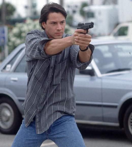 """I! AM AN F. B. I. AGENT!"" -- Johnny Utah (Keanu Reeves)<br /><br /> ""I know, isn't wild!?!"" -- Bodhi"
