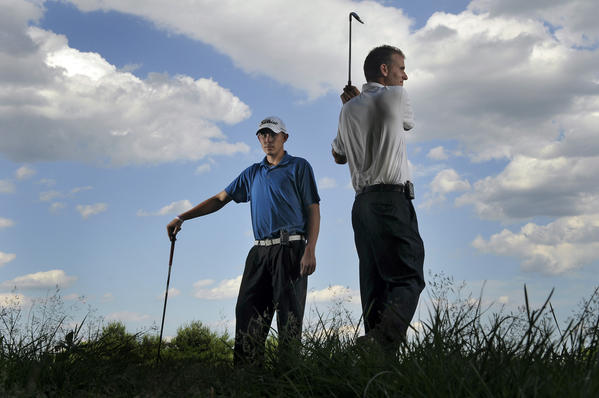 Keith Kwasnik and Ryan Leahey of Stanley Country Club in New Britain are both type 1 diabetics who use insulin pumps. But neither lets it bother him.