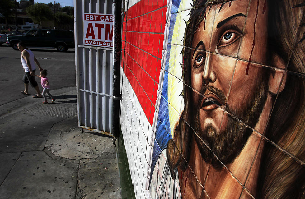 Caption: A meat market on the 3400 block of Cesar Chavez in Boyle Heights is among the many small shops that cater to residents along a highly walkable stretch. (Luis Sinco / Los Angeles Times)