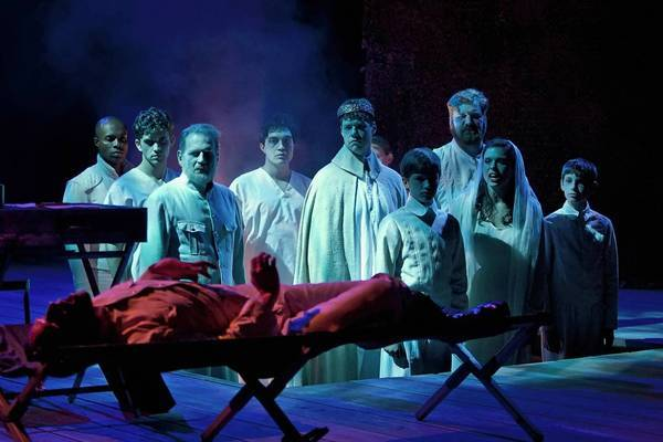 """The cast of the Old Globe's Shakespeare Festival production of William Shakespeare's """"Richard III."""""""