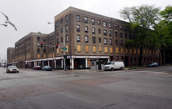 The Rosenwald Apartments, in the 4600 block of South Michigan Avenue, have been vacant for more than a decade.