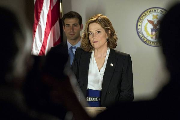 "James Wolk and Sigourney Weaver star in ""Political Animals."""