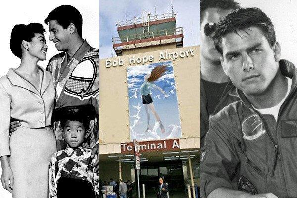 "Scenes from Tom Cruise's 1986 action hit ""Top Gun"" and the 1958 Jerry Lewis comedy ""The Geisha Boy"" featured a number of shots of the Bob Hope Airport."
