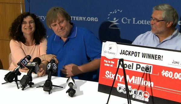 Noel and Fredda Peel picked up their 60 million dollar prize at CT Lottery Headquarters on Tuesday afternoon. The Peel's became the state's 8th Powerball jackbot winner and the second from the town of Seymour.