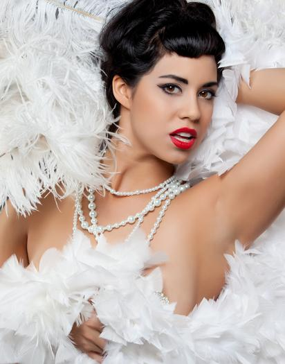 Coco Lectric from Austin, Texas, performs at this week's annual Windy City Burlesque Fest.