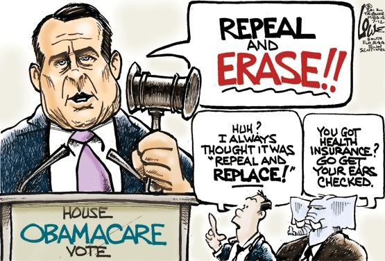 House vote to repeal Obamacare