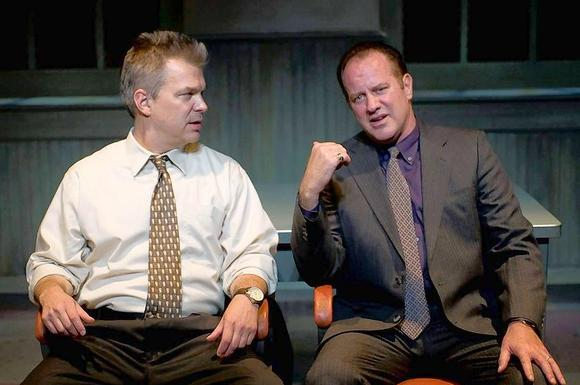"Peter DeFaria as Joey and Randy Steinmeyer as Denny in ""A Steady Rain."""