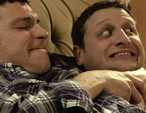 "Mark Raterman and Tim Robinson in ""My Mans."""