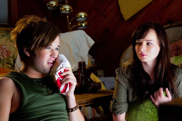 "Haley Joel Osment and Ashley Rickards in a scene from ""Sassy Pants"" which is screening at Outfest."