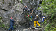 Photo Gallery: Woman Falls During Mount Marathon Race