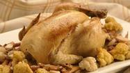 Recipe: Roasted whole chicken with cauliflower