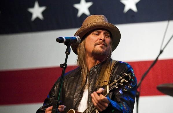 Kid Rock performs at an event for Republican presidential candidate Mitt Romney at the Royal Oak Music Theater in Royal Oak, Michigan February 27, 2012.
