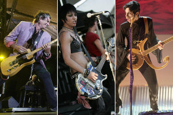 The guitars of famed rock 'n' roll stars often have as much personality as the musicians behind them. Here's a look at guitars that defined not only the musician but the genre. <br><br> <strong>Update:</strong> We've added some key guitars and their owners to the gallery. Discuss your favorite guitars in the comments.
