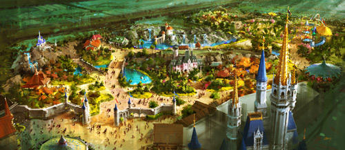Rendering of the new Fantasyland at Walt Disney World