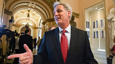 House Majority Whip Kevin McCarthy of Calif., leaves the House chamber on Capitol Hill in Washington, Wednesday, July, 11, 2012, after the Republican-controlled House voted 244-185 to repeal President Barack Obama's health care law.