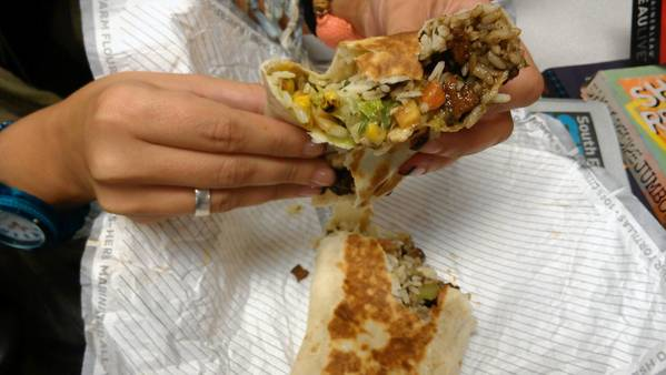 The Cantina burrito from a Taco Bell in Fort Lauderdale
