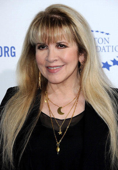 Singer Stevie Nicks from the band Fleetwood Mac arrives at The Clinton Foundation's 'A Decade Of Difference' Gala at The Hollywood Palladium, in Hollywood, California, on October 14, 2011.