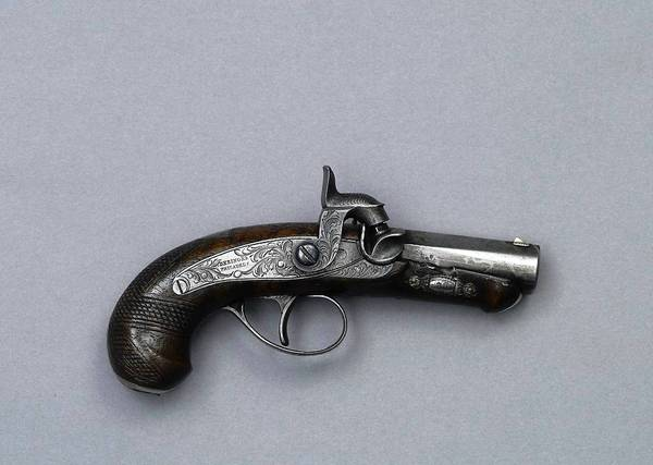 The .44-caliber Derringer pistol used by actor John Wilkes Booth to assassinate President Abraham Lincoln in 1865.