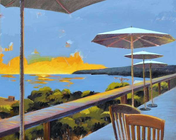 """Spring Sunset"" by Brenda K. Bredvik is part of Pacific Edge Gallery's 25th Anniversary show, ""The Best of Laguna 2012."""