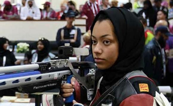 Air rifle shooter Bahiya al-Hamad will be Qatar's flag bearer.  (Qatar Olympic Committee)
