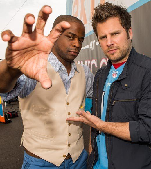 Celebs at Comic-Con 2012: Dule Hill and James Roday