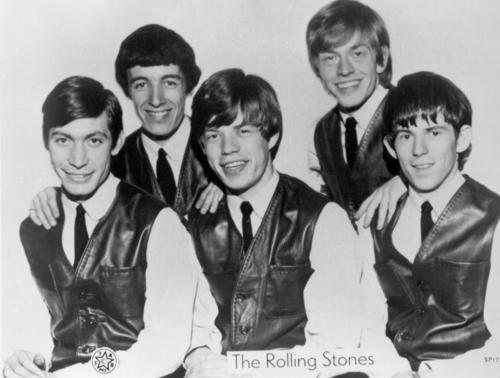 The Rolling Stones in 1962 in London. Charlie Watts, left, Bill Wyman, Mick Jagger, Brian Jones and Keith Richards. (Photo by Michael Ochs Archives/Getty Images)