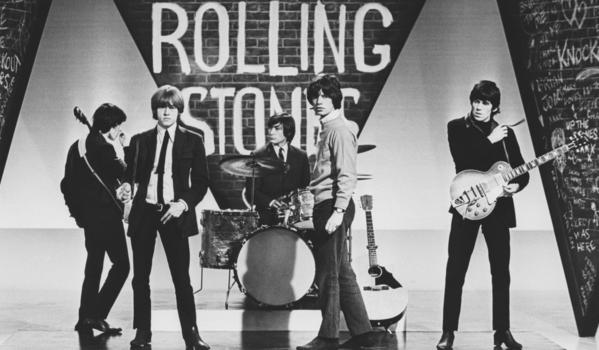 The Rolling Stones: The Rolling Stones during a rehearsal for ABCs Thank Your Lucky Stars TV pop music show, 1964. Brian Jones, left, Bill Wyman, Charlie Watts, Mick Jagger and Keith Richards.