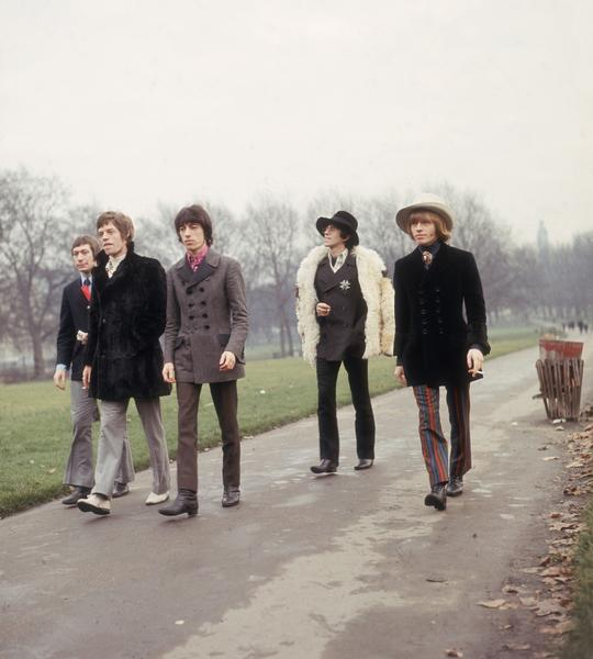 The Rolling Stones: The Rolling Stones take a stroll in a London park in January 1967. Charlie Watts, left, Mick Jagger, Bill Wyman, Keith Richards and Brian Jones.