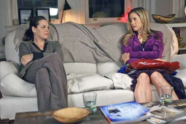 "Tammy Blanchard and Mira Sorvino in ""Union Square."""