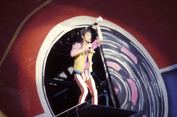 The Rolling Stones: Mick Jagger performs at Wembley Stadium in the United Kingdom.