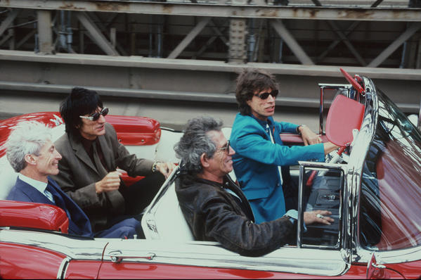 The Rolling Stones: The Rolling Stones take a drive on Aug. 18, 1997.