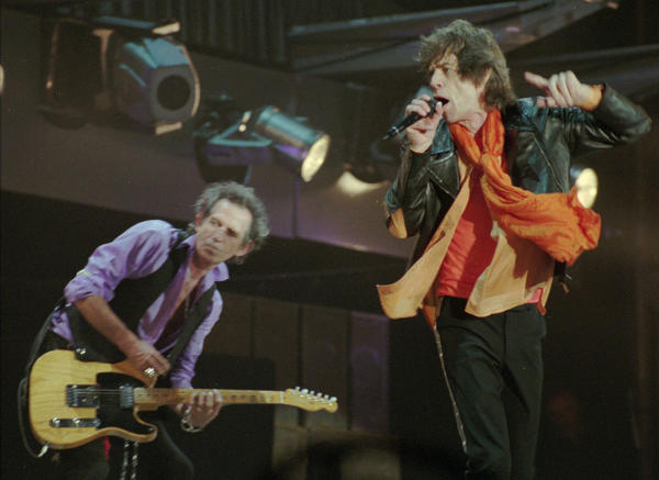 The Rolling Stones: Keith Richards and Mick Jagger perform at Polands largest stadium in Chorzow on Aug. 14, 1998.