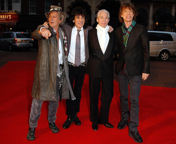 The Rolling Stones: The Rolling Stones attend the premiere of their concert film Shine A Light at the Odeon Leicester Square in London on April 2, 2008.