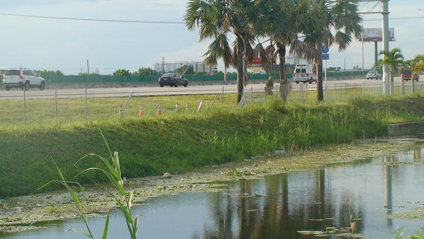 The body of a man was found in a Pompano Beach canal three days after a car went into the water off Interstate-95