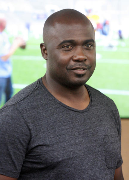 Marshall Faulk at the Rose Bowl in Pasadena for the NFL All-Access Event.
