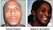 Antonio Prophet testified Thursday in Berkeley County Circuit Court that two armed men, one with a gun and the other with a knife, were responsible for the June 2010 deaths of Angela Devonshire and her 3-year-old son, for which he is on trial.